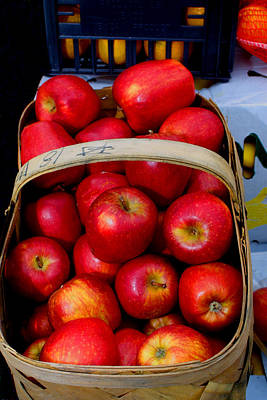 North Ga. Apples Art Print by Ralph  Perdomo