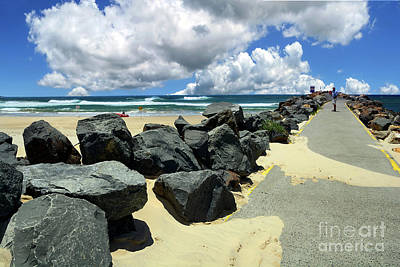 Photograph - North Haven Breakwater Walkway By Kaye Menner by Kaye Menner
