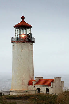 North Head Lighthouse - Ilwaco On Washington's Southwest Coast Art Print by Christine Till