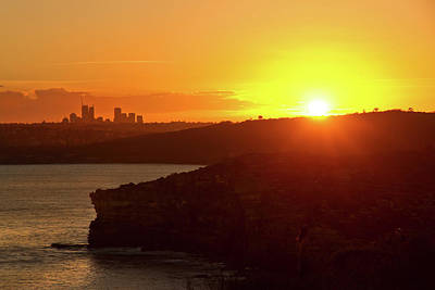 Photograph - North Head North Sydney And Sunset by Miroslava Jurcik