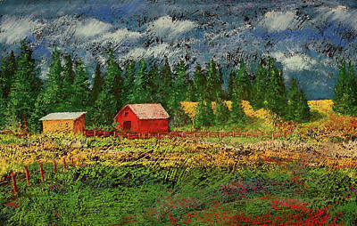 Impressionistic Pastel - North Idaho Farm by David Patterson
