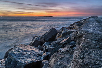 Photograph - North Jetty Into The Dusk by Greg Nyquist