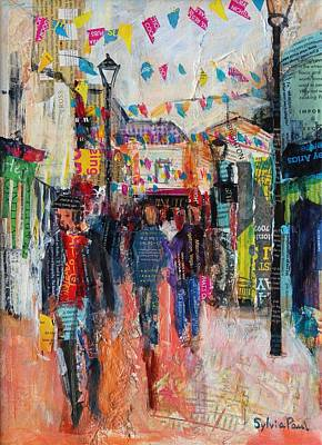 Urban Store Painting - North Laines  Brighton by Sylvia Paul