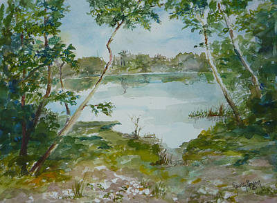 North Lake Art Print by Dorothy Herron
