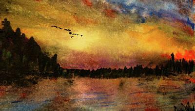 Mixed Media - North Lake Route by R Kyllo