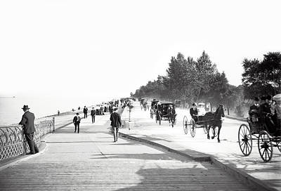 Horse And Wagon Photograph - North Lake Shore Drive - Chicago 1905 by Daniel Hagerman