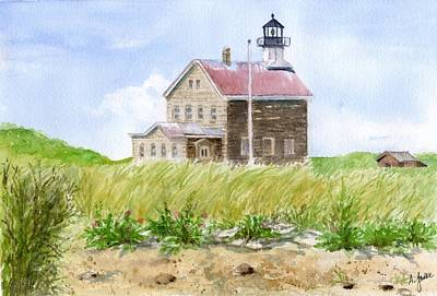 North Light - Block Island Art Print