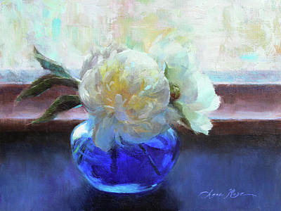 Peony Painting - North Light Peonies by Anna Rose Bain