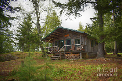 Photograph - North Maine Cabin by Skip Willits