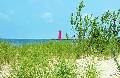 Photograph - North Muskegon Lighthouse  In Michigan by Ken Figurski