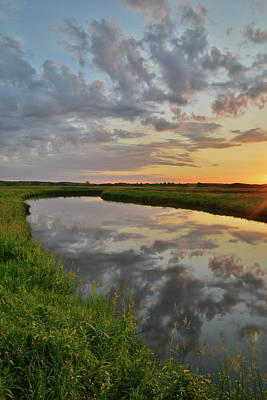 Photograph - North Nippersink Creek Sunrise Mirror Image by Ray Mathis