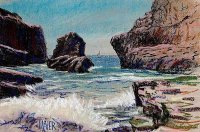 Drawing - North Of Santa Cruz by Donald Maier