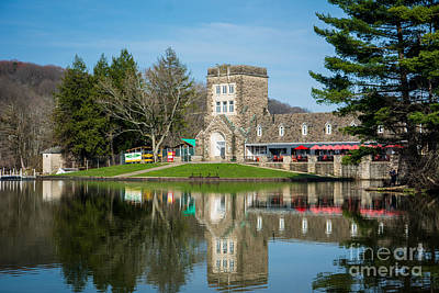 North Park Boat House Pittsburgh Pennsylvania Print by Amy Cicconi
