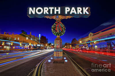 Photograph - North Park Christmas Rush Hour by Sam Antonio Photography