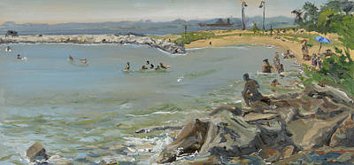 Wall Art - Painting - North Point Beach by Katherine Farrell