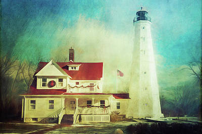 Photograph - North Point Lighthouse Keeper's Quarters by Joel Witmeyer