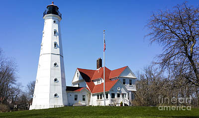 Photograph - North Point Lighthouse  by Ricky L Jones