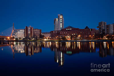 Photograph - North Point Park Blue Hour by Kimberly Nyce