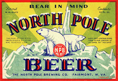 North Pole Beer Art Print