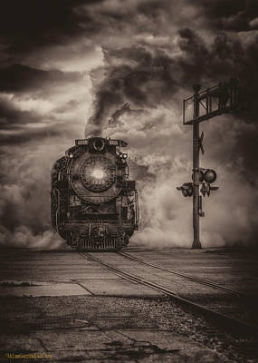 Photograph - North Pole Express Steam Train 1225 Bw by LeeAnn McLaneGoetz McLaneGoetzStudioLLCcom