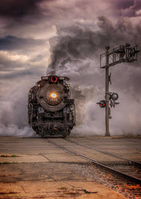 Photograph - North Pole Express Steam Train 1225 by LeeAnn McLaneGoetz McLaneGoetzStudioLLCcom