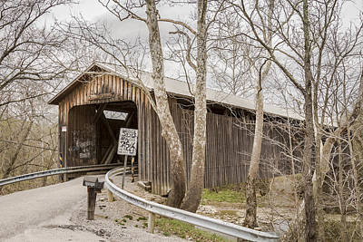 Music Royalty-Free and Rights-Managed Images - North Pole Road Covered Bridge by Jack R Perry