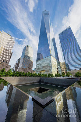 9-11 Wall Art - Photograph - North Pool by Inge Johnsson