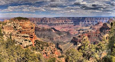 Photograph - North Rim Afternoon Panorama by Adam Jewell