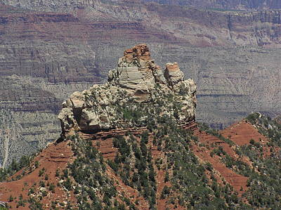 Photograph - North Rim Rock by Louise Magno