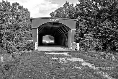 Photograph - North River Historic Crossing Black And White by Adam Jewell