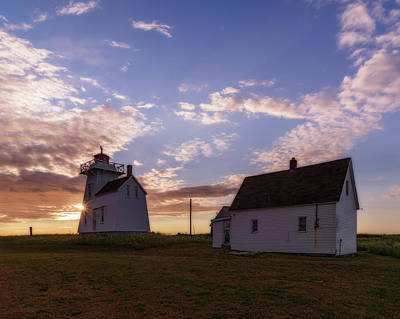 Photograph - North Rustico Lighthouse At Sunrise by Chris Bordeleau