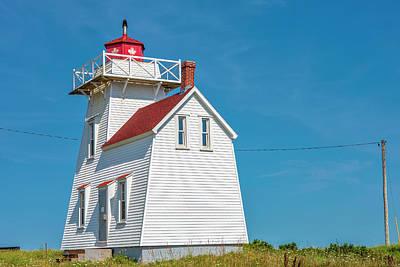 Celebrity Pop Art Potraits - North Rustico Lighthouse by Eunice Gibb