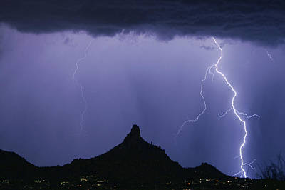 Photograph - North Scottsdale Arizona Pinnacle Peak Monsoon by James BO Insogna