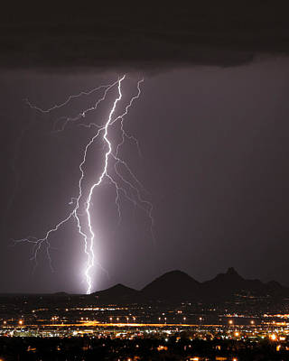 Carefree Arizona Photograph - North Scottsdale Lightning Strike by James BO  Insogna
