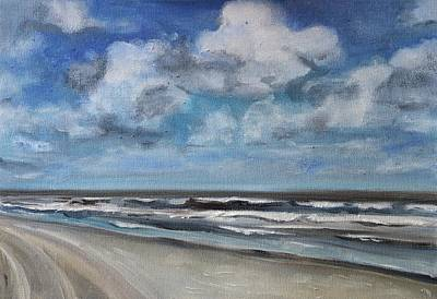 Painting - North Sea Scape by Christel Roelandt