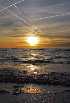 Zandvoort Photograph - North Sea Sunset At Zandvoort by Paul Jarvis