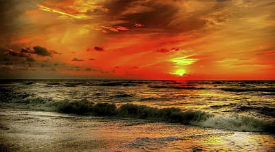 Photograph - North Sea Sunset by Kordi Vahle