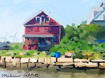 Red Painting - North Shore Art Association At Reed's Wharf by Melissa Abbott