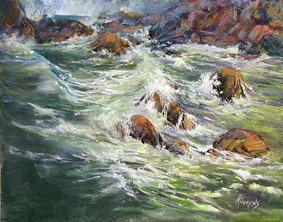 Painting - North Shore Drama by Rae Andrews