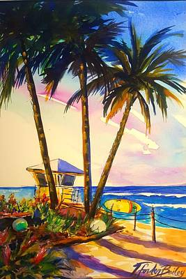 Painting - North Shore Lifeguard Hut by Therese Fowler-Bailey