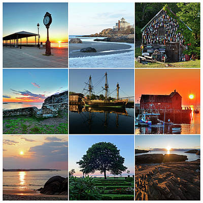 Photograph - North Shore Massachusetts Collage by Toby McGuire
