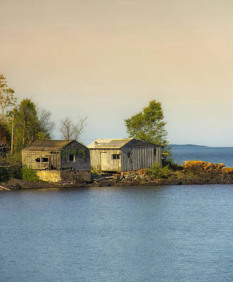 Rocky Digital Art - North Shore Old Buildings by Bill Tiepelman
