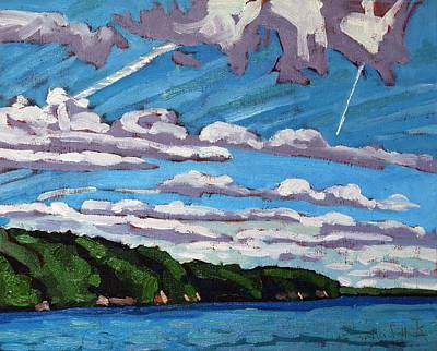 North Shore Stratocumulus Streets Original by Phil Chadwick