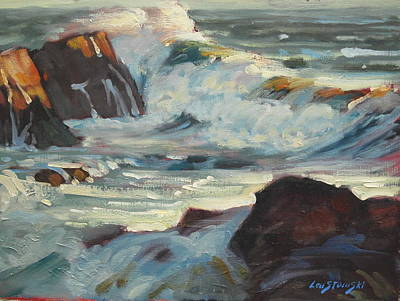 Painting - North Shore Surf by Len Stomski