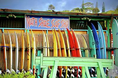 Photograph - North Shore Surf Shop 1 by Jim Albritton
