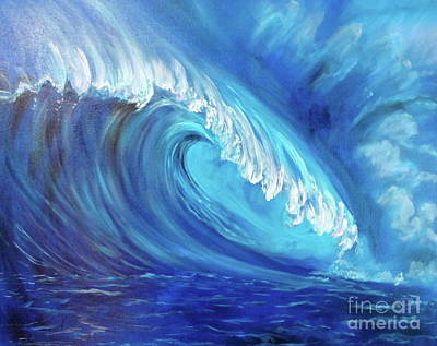 Painting - North Shore Wave Oahu 2 by Jenny Lee