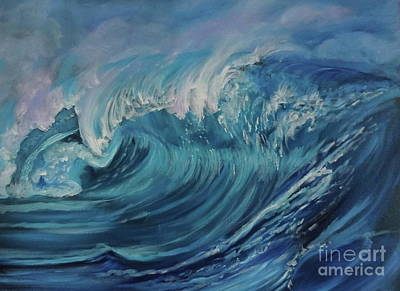 Painting - North Shore Wave Oahu by Jenny Lee