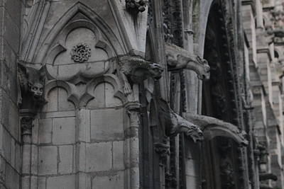 Photograph - North Side Notre Dame Cathedral by Christopher Kirby