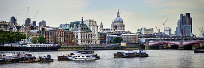 Panoramic Photograph - North Side Of The Thames by Heather Applegate