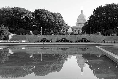 Photograph - North Side Of The United States Capitol With Reflections -- 2 by Cora Wandel